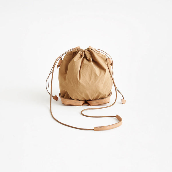 Irose Pocketable Mini Shoulder Bag Beige