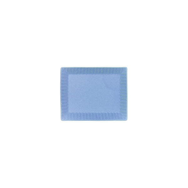 Aito Blue Base Rectangular Plate Blue - OKURA