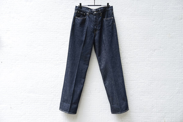 Auralee Hard Twist Denim 5P Pants Indigo - OKURA