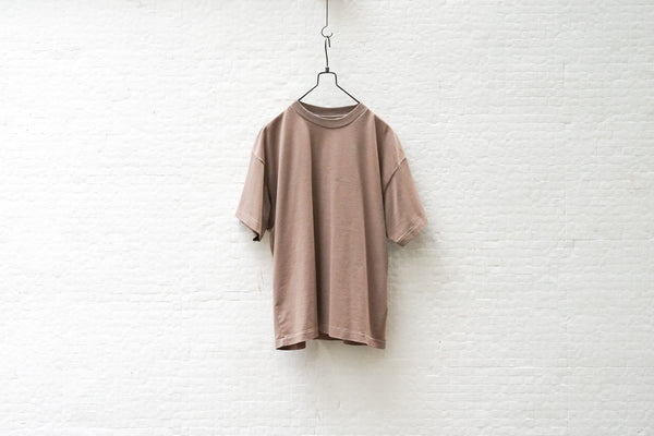 Auralee Luster Plaiting Tee Light Brown - OKURA