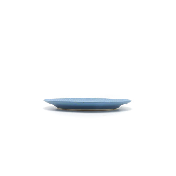 Aito Blue Base Oval Plate Blue - OKURA