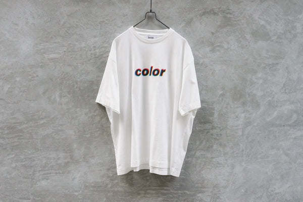 Blurhms Color Tee Loose Fit White - OKURA