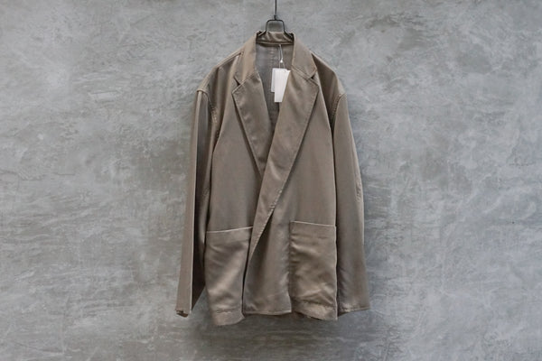 Blurhms Cupro Cotton Gabardine Belt Jacket Beige - OKURA