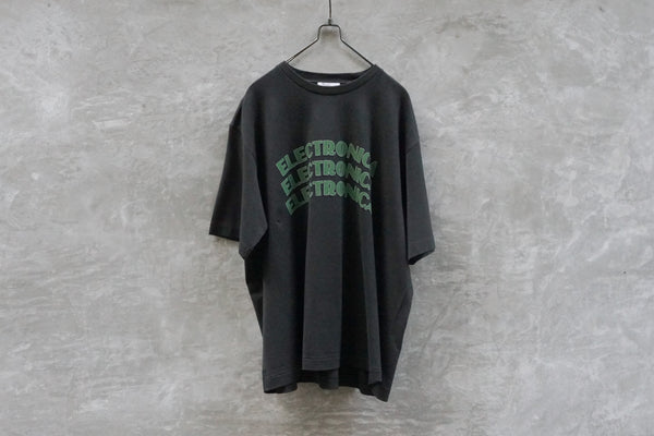 Blurhms Electronica Tee Loose Fit Black - OKURA