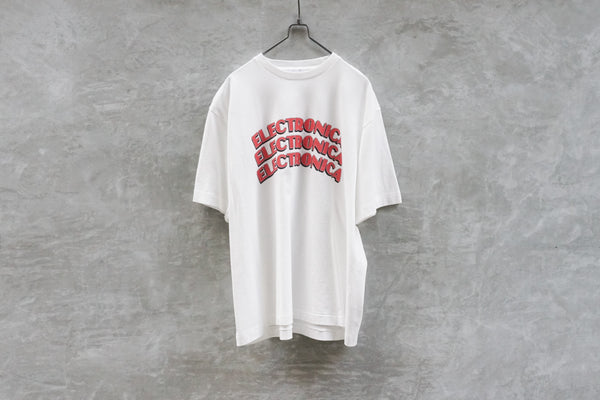 Blurhms Electronica Tee Loose Fit White - OKURA