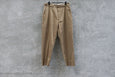 Blurhms High Count Twill Central Slit Pants Beige - OKURA