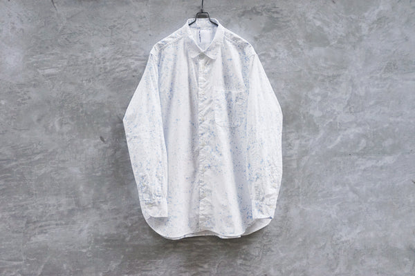 Bru Na Boinne Color Slash Stitch Dandy Shirt White - OKURA
