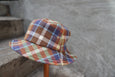 Ca4La Kids Bucket Hat Rv  - Reversible Checks Bucket Navy - OKURA