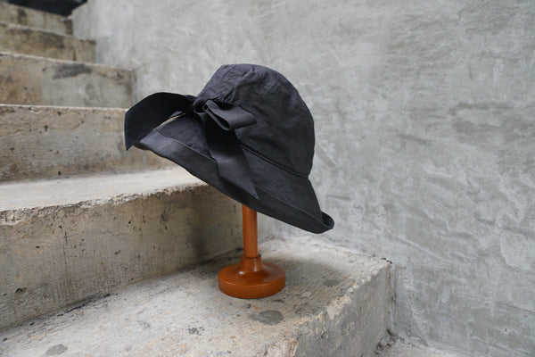 Ca4La Senntaku Niwa Hat (Washable & Uv Cut) Black - OKURA