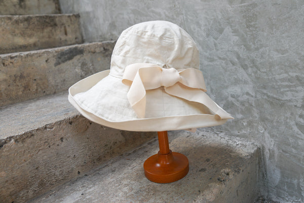 Ca4La Senntaku Niwa Hat (Washable & Uv Cut) White - OKURA