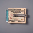 Detail Inc. CANDY DESIGN&WORKS Brownine Money Clip Gold