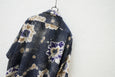 Cilk Open Collar Shirt - Floral Navy - OKURA