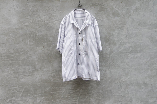 Clamp 6 Pockets S/S Shirt White - OKURA