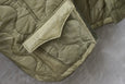 77 Circa Circa Make Western Yoke Quilting Over Coat Khaki Green