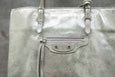 Balenciaga Limited Edition Papier A5 Metalic Milky Way Aigue Marine Tote Bag