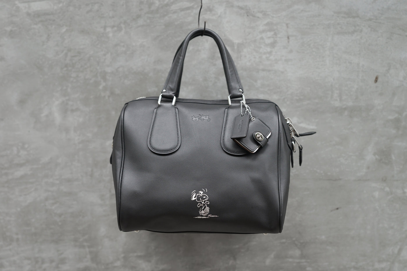 COACH x PEANUTS SURREY Limited Edition Satchel In Leather
