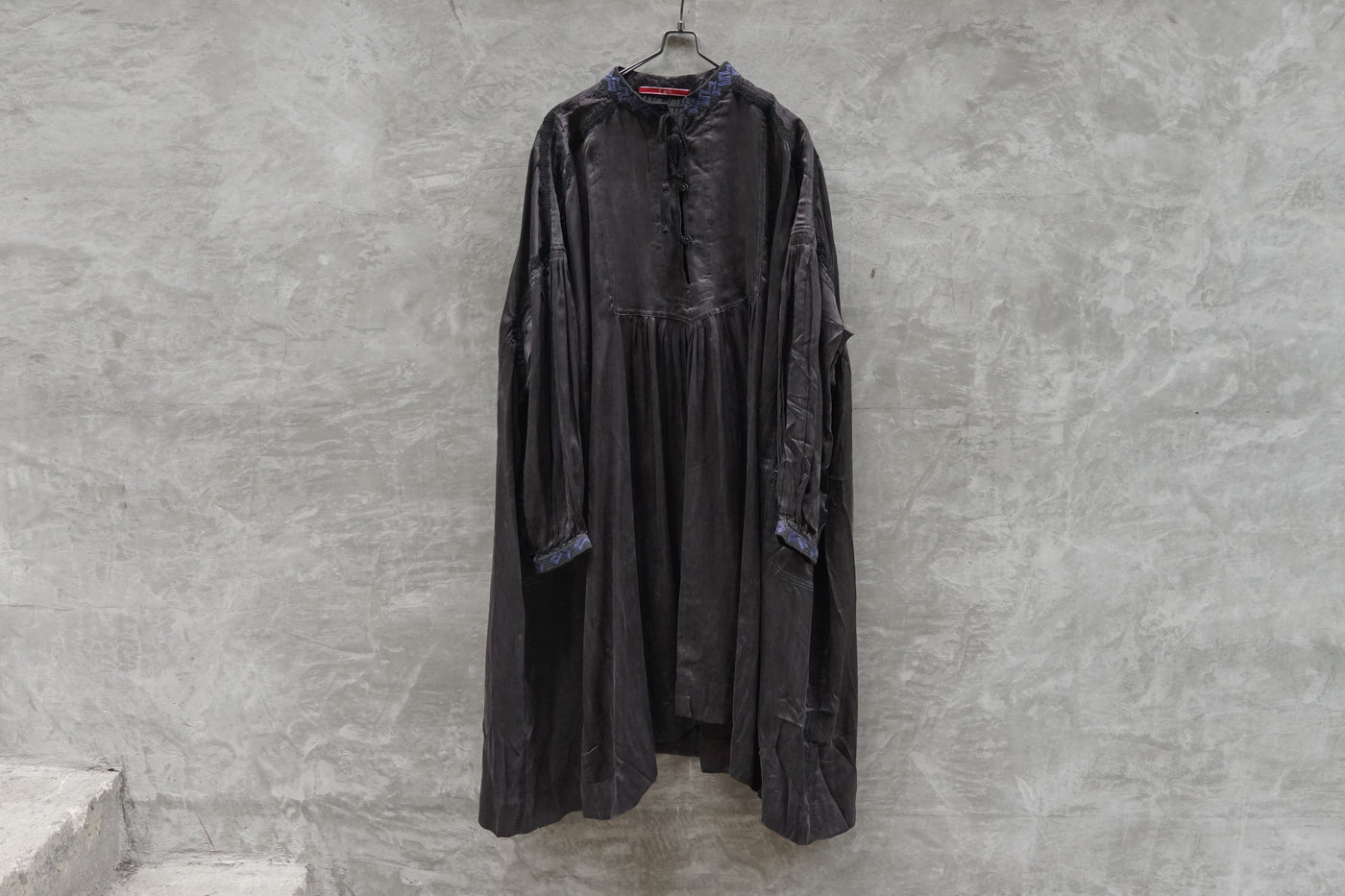 Leh Embroidery Transylvania Silk Dress Black