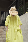 Atelier Delphine Lihue Dress Yellow - OKURA