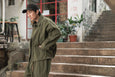 Yoko Sakamoto Cropped Coaches Jacket Khaki Green