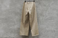 Auralee Washed Finx Chino Wide Tuck Pants Beige
