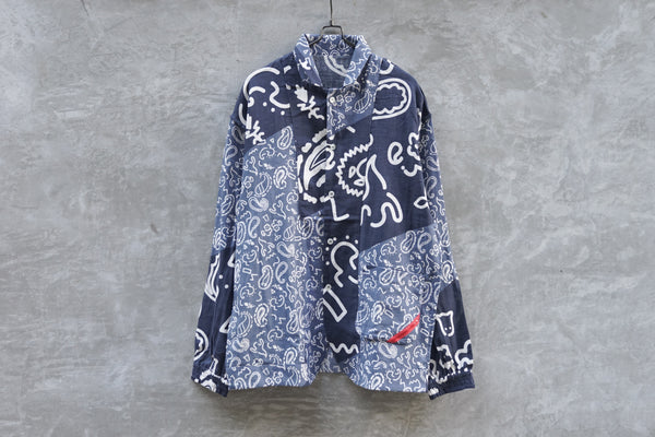 Phingerin Night Shirt Gauze Spooky Paisley Navy