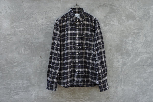 Fragment Design x Uniform Experiment Star Print Checked Flannel Shirt
