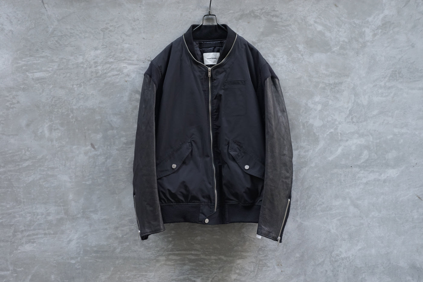 UNDERCOVERISM AW11 Leather Sleeve MA-1 Bomber Jacket