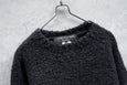 Comme Des Garcons Homme Plus Switching Knit Alpaca Mohair Wool Blend Sweater Black AD2012