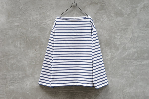Outil Tricot Aast - Big Boat Neck Boarder Fr White x Blue
