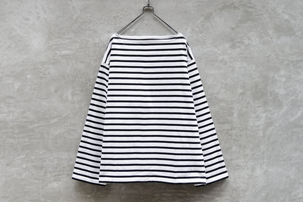Outil Tricot Aast - Big Boat Neck Boarder Fr White X Black