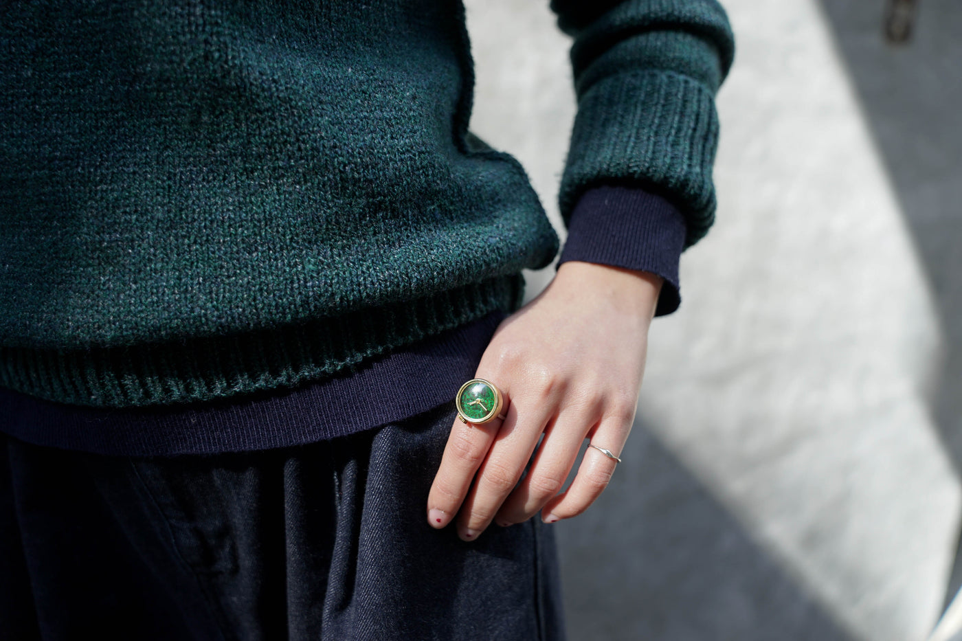 Nejicommu Rtransition Ring Green - OKURA