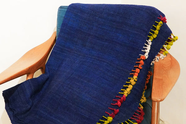 Leh Vintage Antique Blanket 97X220Cm 2-Tone Red x Indigo