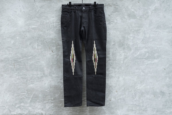 NUMBER (N)INE Taperd Pants Denim Indian Pattern - OKURA
