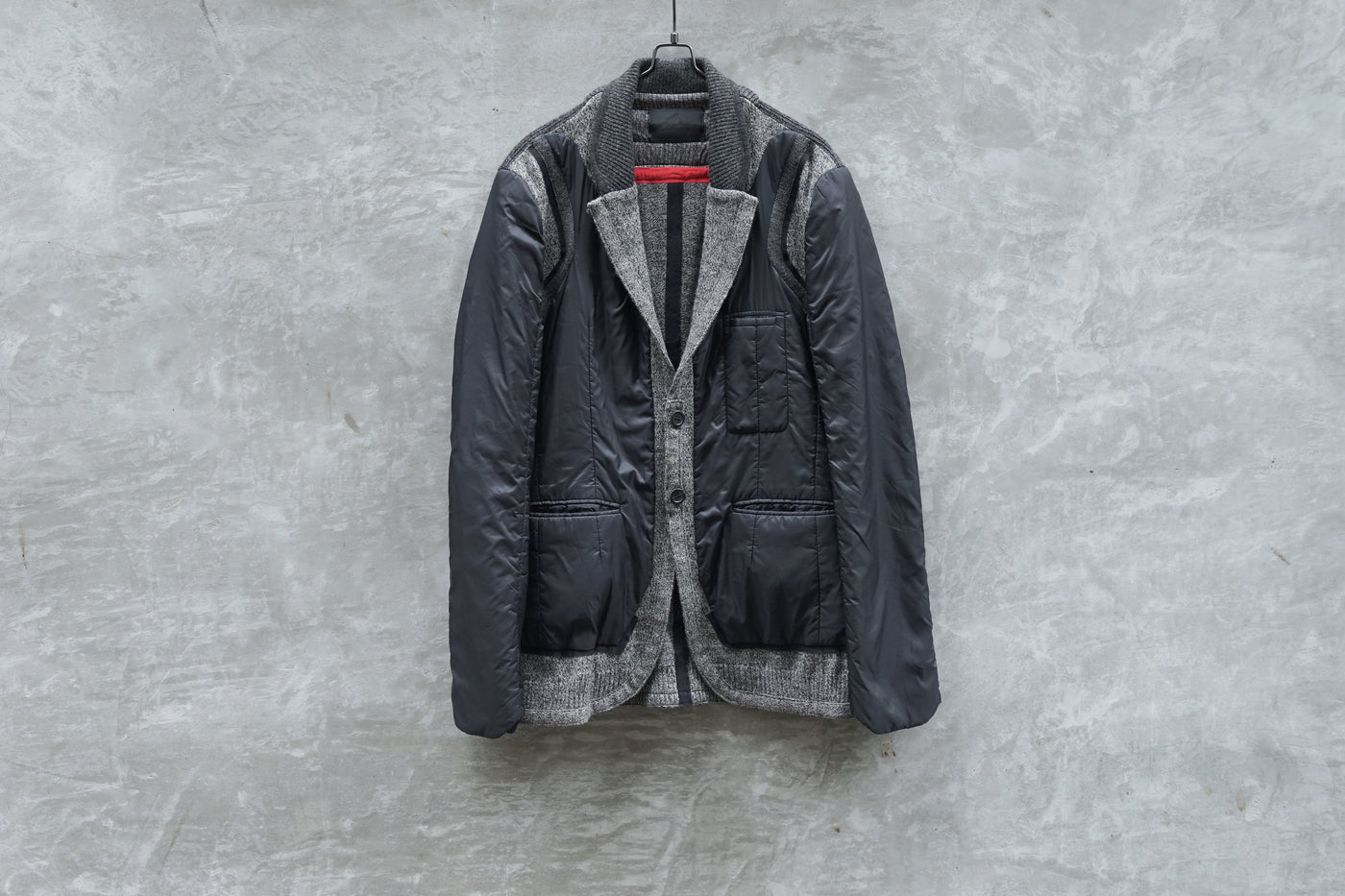 UNDERCOVER Nylon Patched Knitted Switch Inside Blouson - OKURA