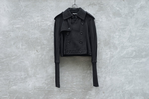 Tao Comme Des Garcons Wool Short Trench Jacket AD2007 - OKURA