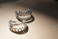 E.M. Due Twist 2 Layer  Earring 2 Pieces Silver