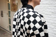 Jieda Checkered Rugby Shirt Off White - OKURA