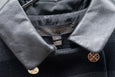 Louis Vuitton Lamb Leather Collar Double Breasted Short Jacket - OKURA