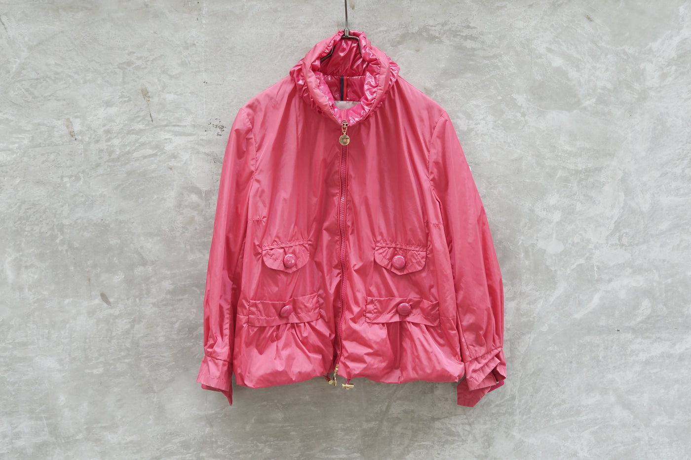 Moncler Zip Light Weight Jacket Pink - OKURA