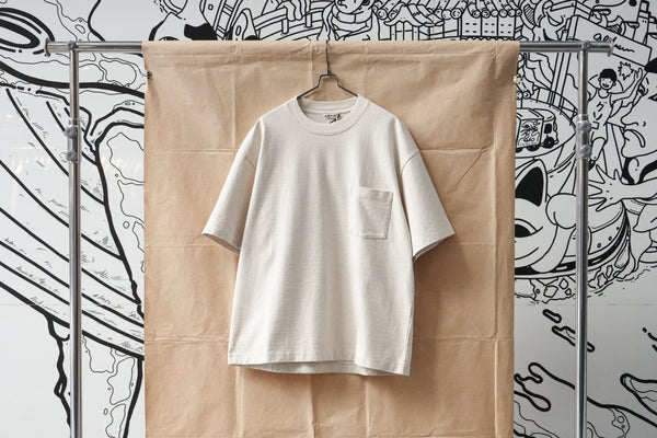 Auralee Stand Up Tee Off White