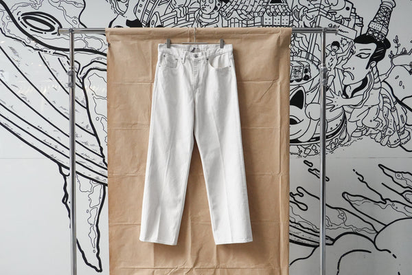 Auralee Hard Twist Denim 5P Pants Off White