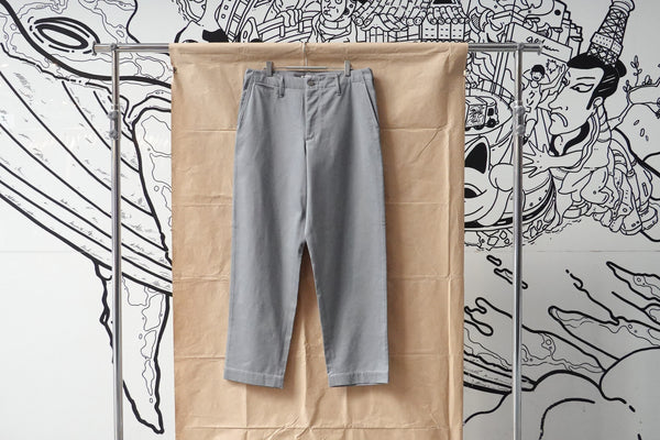 Auralee Washed Finx Light Chino Pants Grey