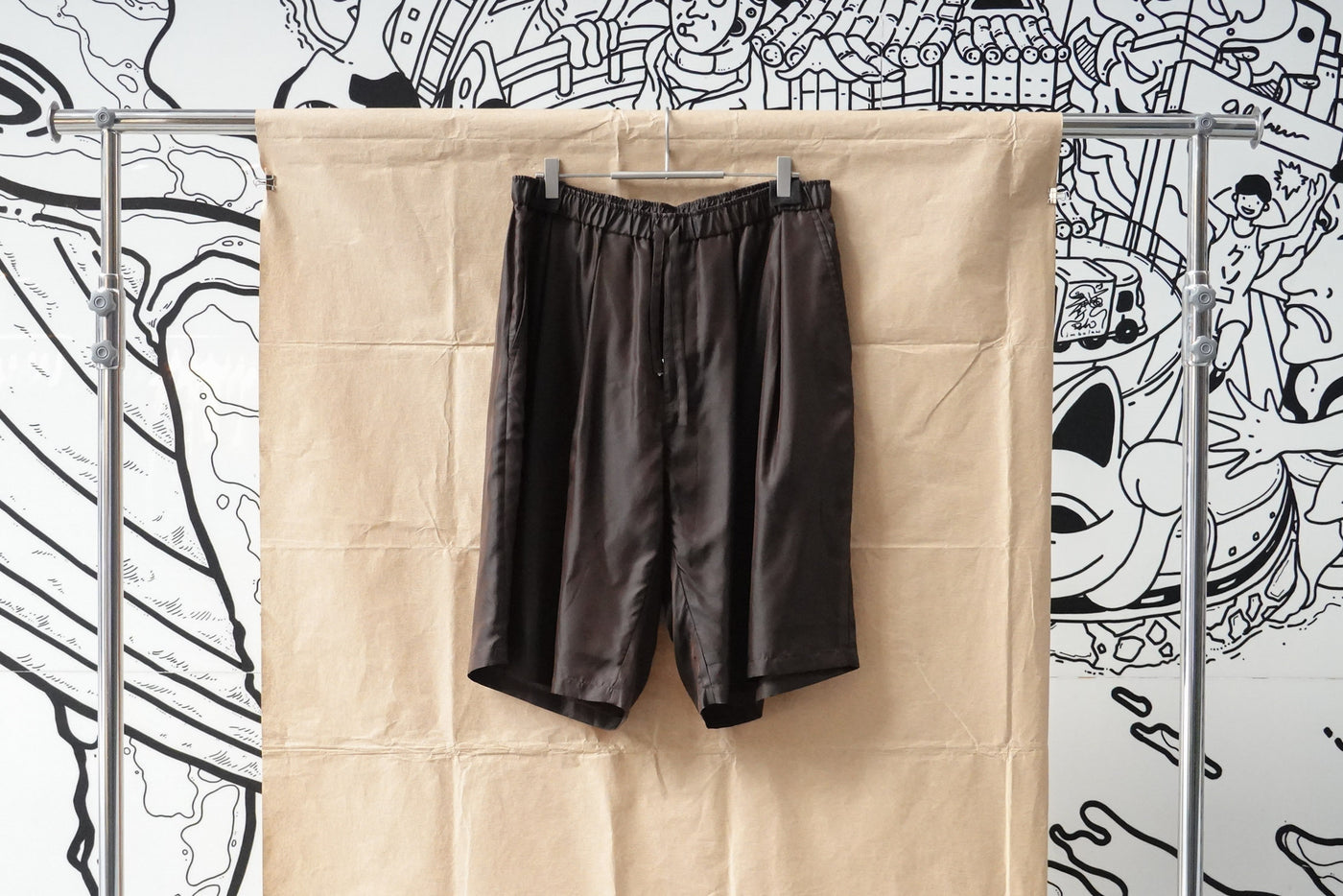 Seven By Seven Tuck Short Pants -Cupra- Brown