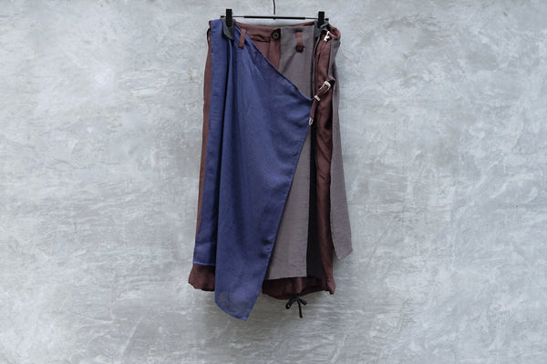 Leh Layered Half Pants Dark Grey - OKURA