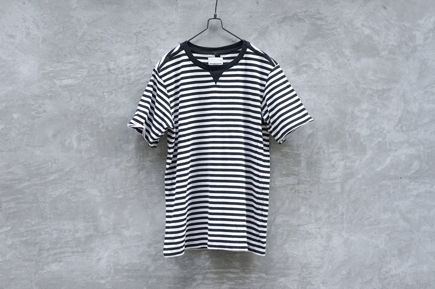 TAKAHIROMIYASHITA The Soloist. Striped Cotton Jersey Short Sleeve T-shirt - OKURA