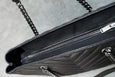 Saint Laurent Matelasse Chevron Large Monogram Shopper Black - OKURA