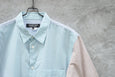 Comme Des Garcons Homme Deux Mix Color Checked Pattern Short Sleeve Shirt AD2012 - OKURA