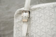 GOYARD Goyardine Yona Bag White Canvas Leather