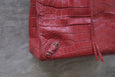 Balenciaga Papier Tote Red Crocodile Embossed Leather
