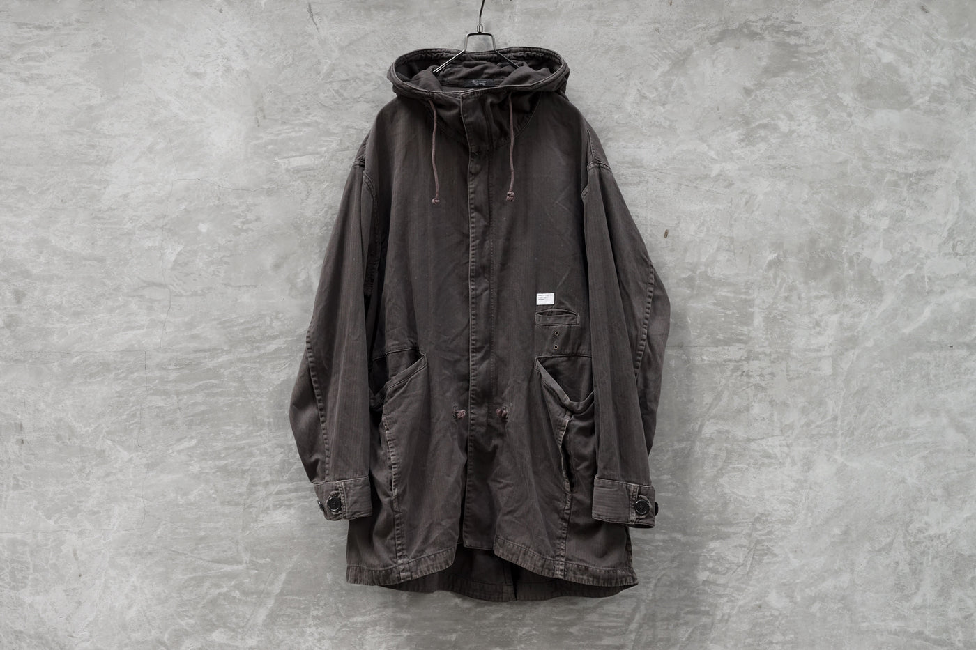 "UNDERCOVER SS11 Underman ""CAN"" Print Logo Fishtail Parka"